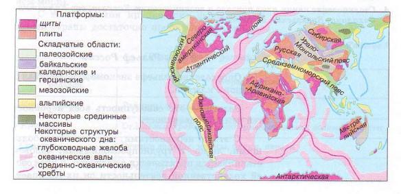 Тектонические структуры мира