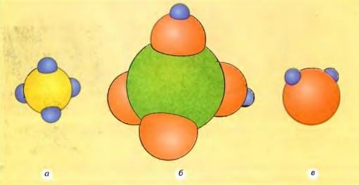 Модели молекул некоторых