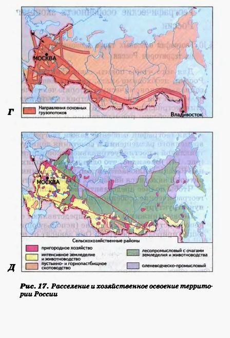 Расселение и хозяйственное освоение территорий в России