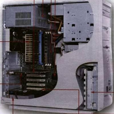 """Магистрально-модульный принцип построения компьютера.  Выполнила ученица 10  """"Б """" класса Панина Мария."""