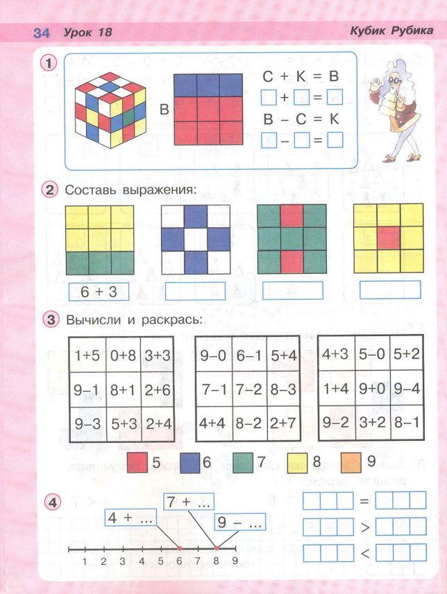 Петерсон 1 класс 2 часть схемы