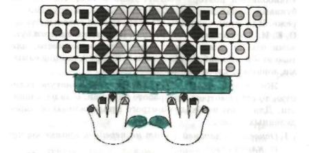 Основная позиция пальцев на клавиатуре