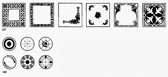 Схемы орнаментов на круглой