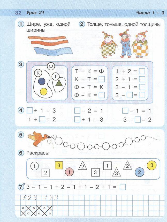 Л.Г.Петерсон.  Математика - 1 класс/часть 1.