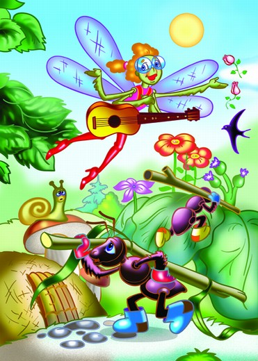 знакомство с басней крылова стрекоза и муравей