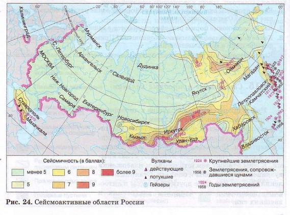 Сейсмоактивные области России