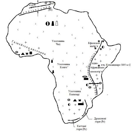 Оіс до теми геологічна будова рельєф