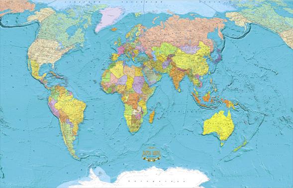 Контурная Карта Политическая Карта Мира