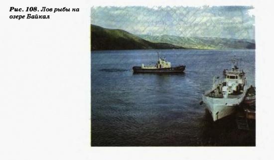 Лов рыбы на озере Байкал