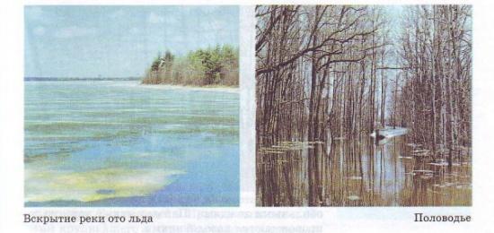 Вскрытие реки ото льда. Половодье