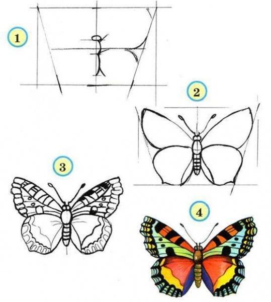схемы как нарисовать ангела