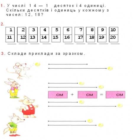 Математика 1 клас м в богданович