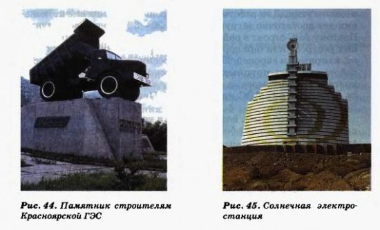 Памятник строителям. Солнечная электростанция