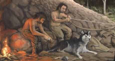 Первісна людина приручила собаку