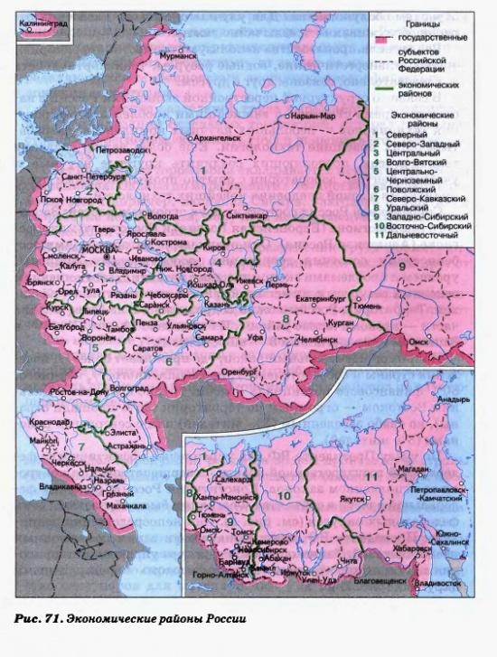 Экономические районы России